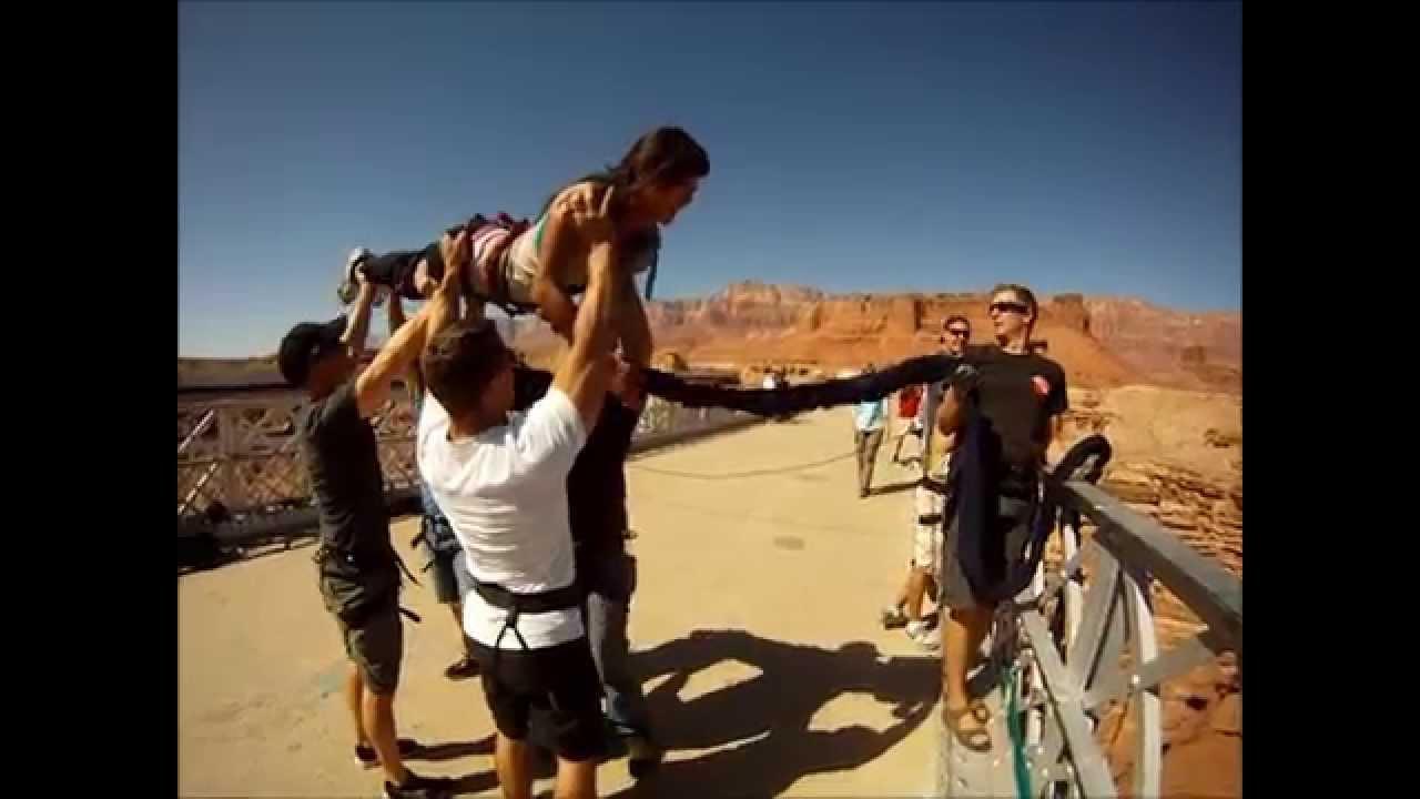 Navajo Bridge Bungee Jump With Gopro Hd Youtube