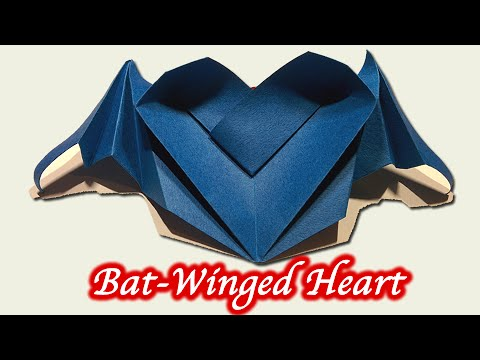 Bat Heart Origami Origami Bat-winged Heart