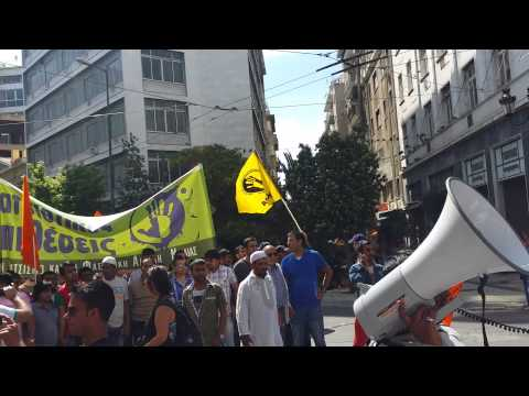 Pakistan Community Unity Greece Protest Against Athens Police (Lead This Protest Mr. Javed Aslam Sb)