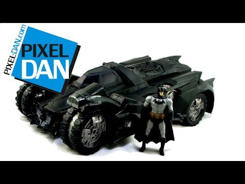 DC Multiverse SDCC 2014 Exclusive Batman Arkham Knight Batmobile Video Review