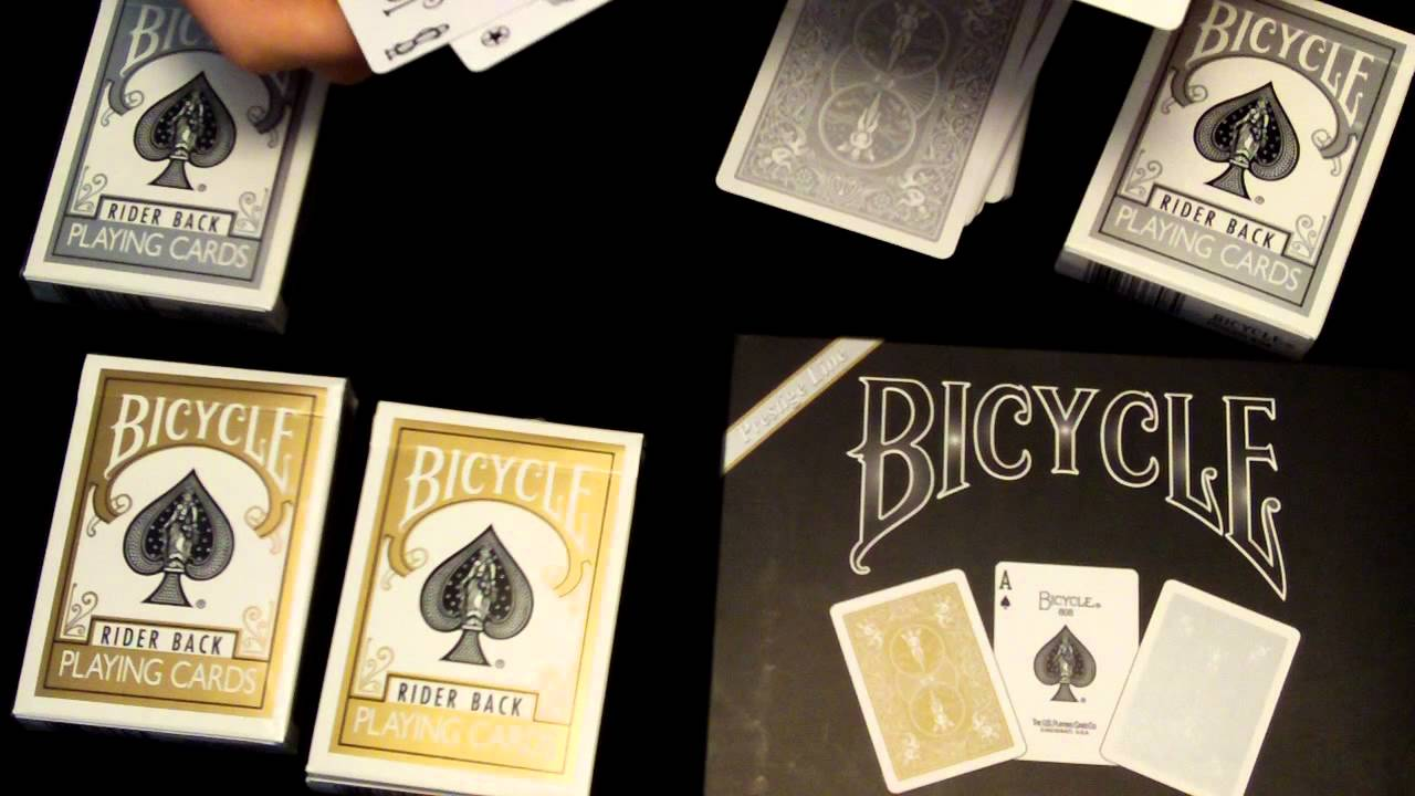Bicycle Gold And Silver Collection Set Deck Review Youtube