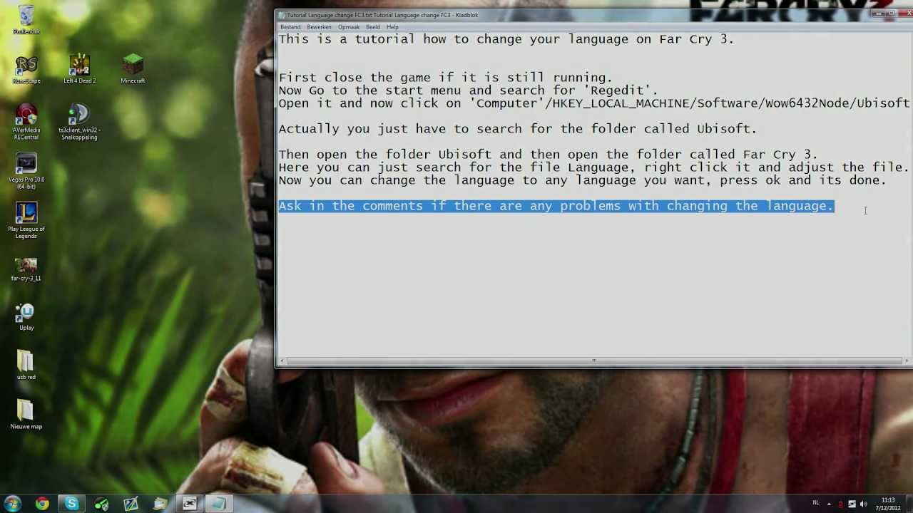 Far Cry 3 Change Language After Installation Youtube