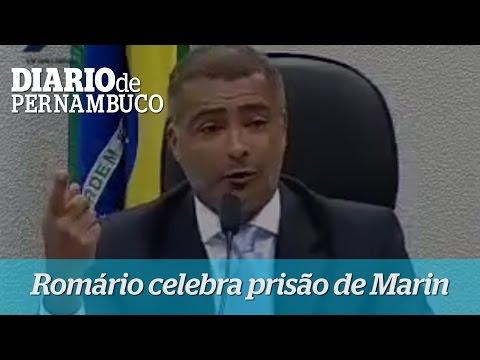 Rom�rio celebra pris�o de Jos� Maria Marin