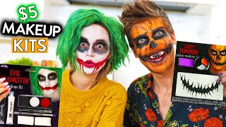 TRYING EVEN MORE $5 HALLOWEEN MAKEUP KITS ft Joey Graceffa