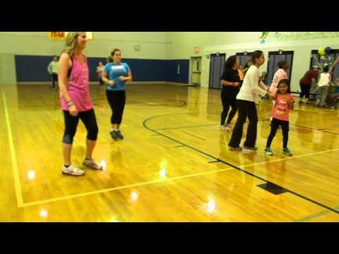 Columbus Elementary Zumba Fundraiser -zumba Kids the Hamster Dance Song video