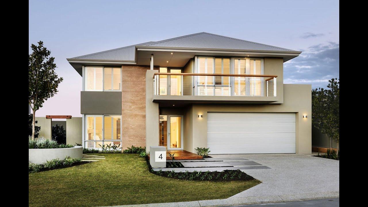 Casa moderna de dos pisos youtube for Planos para casas de dos pisos modernas