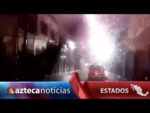 Video: cae rayo en centro de Villanueva