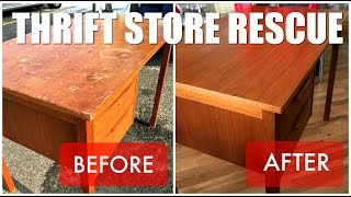 Thrift Store Rescue / Teak Desk Refinish