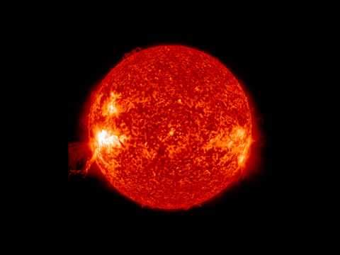 NASA | SDO Lunar Transit, Prominence Eruption, and M-Class Flare