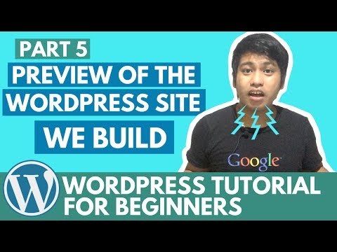 WordPress Tutorial for Beginners - The Preview of the WordPress Site we build - Part 5