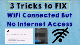 SOLVED WiFi Connected But No Internet Access Problem Windows 10 (Wifi Connected No Internet Access)