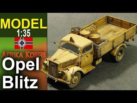 Opel Blitz - Afrika Korps - 1:35 - Modelarstwo