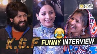 KGF Movie Team Funny Interview With Mangli || Yash, Srinidhi