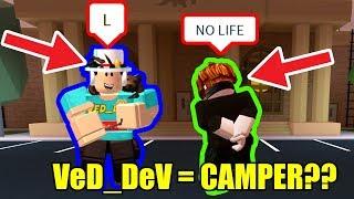 VeD_DeV is a CAMPING COP??!! | Roblox Jailbreak 1v1 User VeD_DeV