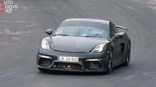 2020 PORSCHE 718 CAYMAN GT4 SPIED TESTING AT THE NÜRBURGRING