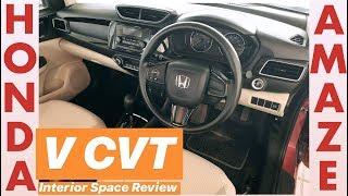Honda Amaze Diesel V CVT - Interior Space Review (Hindi + English)