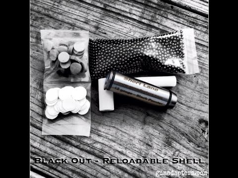 Black Out - 12 gauge Reloadable Black Powder Adapter.