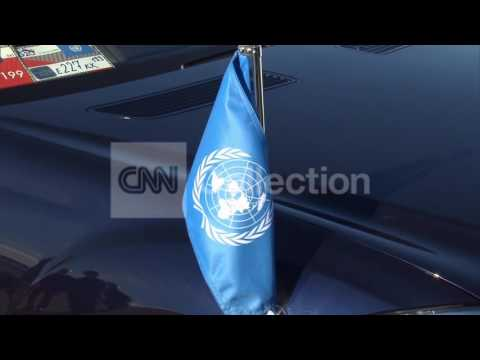 RUSSIA:BAN KI-MOON G20 ARRIVAL IN ST PETERSBURG