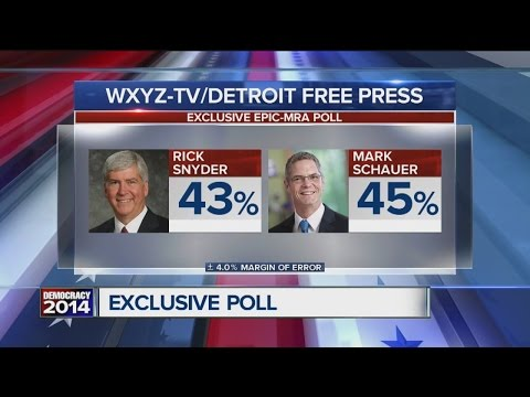 POLL: Democrat Mark Schauer takes lead over Rick Snyder in toss-up race for Michigan governor
