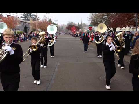 North Albany Middle School band in Veterans Day Parade
