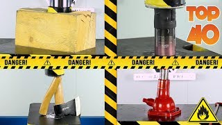 TOP 40 BEST HYDRAULIC PRESS MOMENTS | SATISFYING COMPILATION