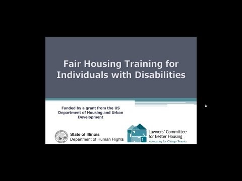 Fair Housing Training for Individuals with Disabilities