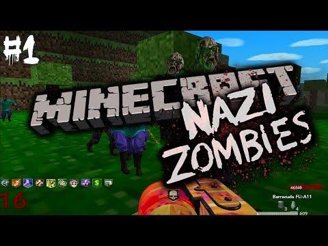 NAZI MINECRAFT ZOMBIES?! Pt.1 (World at War: Custom Zombies)