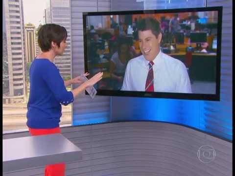 Evaristo Costa quase morre ao vivo (20/01/2014)
