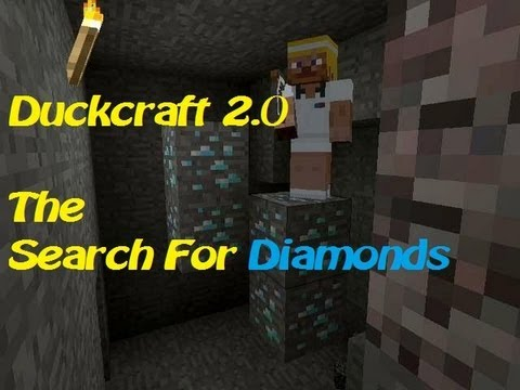 Duckcraft 2.0 pt23| The Search For Diamonds pt3| We should build again soon