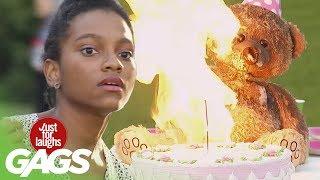 Evil Teddy Ruins Birthday Party !