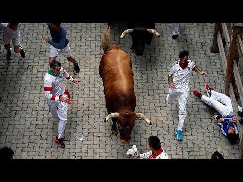 Último encierro de los Sanfermines, que dejan el mayor número de heridos por asta de toro en más…