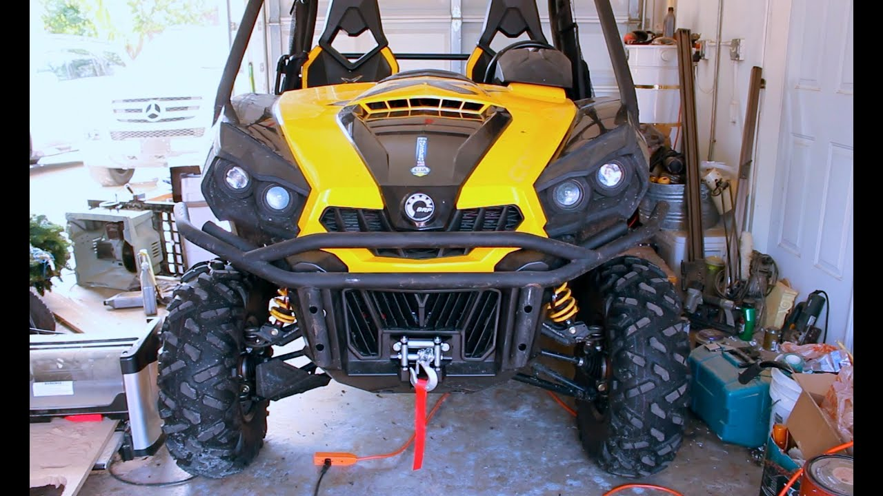 Can Am Commander Winch Install
