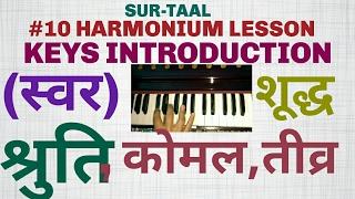 #10 lesson HARMONIUM (Shruti,swaras,komal swaras,teevra swaras,western notation,saptak}