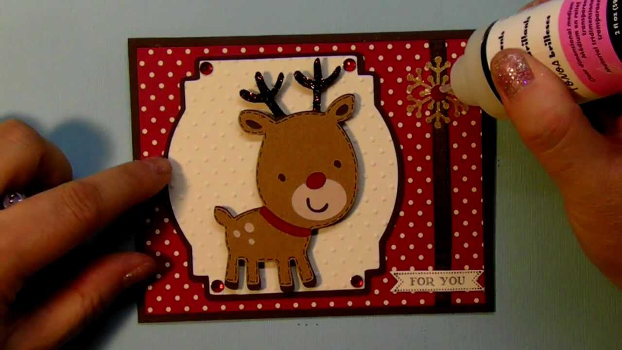 Christmas Card 2012 Series Using A Reindeer From Create A