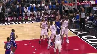 Boban holds the ball up in the air and no defender has the chance to reach it...