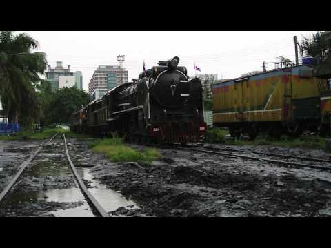 Shunting The King's Train at Thonburi Locomotive Depot – Bangkok Noi