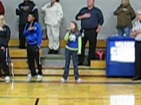 Jesi Thomas - Chelsea Middle School - National Anthem 12/11/12