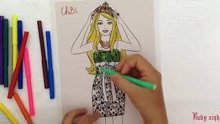 Đồ chơi tô màu công chúa Coloring princess Bé Học tô màu Coloring learn Kỹ năng sống Life skills