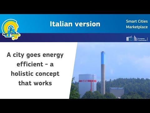 Una città verso l'efficienza energetica - un concetto olistico che funziona.