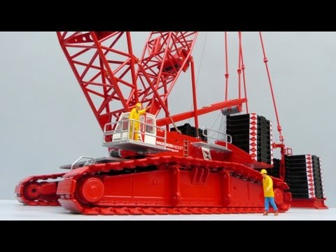 Cranes Etc TV:  Conrad Liebherr LR 1750 Crawler Crane 'Wagenborg' Review Part 2 of 2