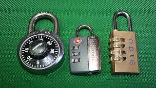 Candados de combinación uso y como cambiar su clave