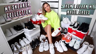 my sneaker collection + how i clean my white shoes