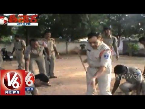 Hyderabad police takes part in Modi Swachh Bharat (Clean India) mission - Teenmaar News