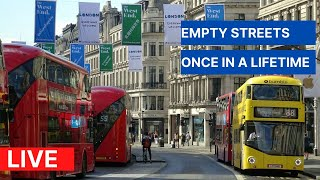 🇬🇧 London Bus Ride 🇬🇧 - Beautiful Day Tour in Central London  - Live Stream Camera Tour 2021