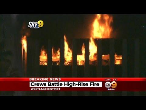 Crews Battle High Rise Fire In Westlake