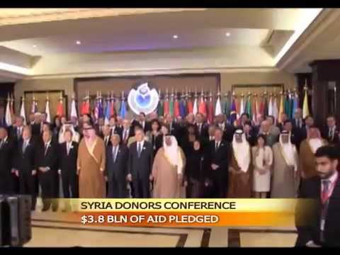 Donors pledge $3.8 bln of aid to tackle Syria crisis in conference held in Kuwait