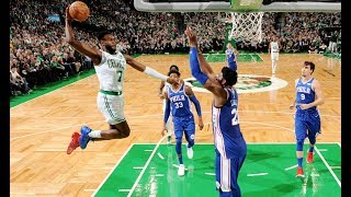 Celtics' Jaylen Brown Dunks All Over Joel Embiid in NBA Season Opener