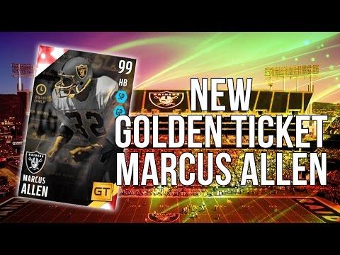 Madden 16 Ultimate Team :: New Golden Ticket Marcus Allen! 100+ EVERYTHING!-Madden 16 Ultimate Team
