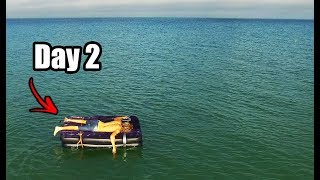 I Spent 24 Hours On An Air Mattress In The Middle Of The Ocean (GONE WRONG AGAIN)
