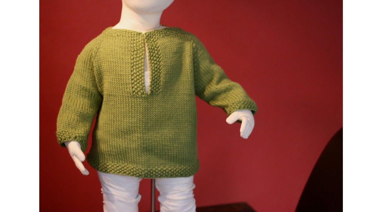 Knitting Pattern Jumper Toddler : Learn to Knit a Raglan Sweater - Toddler Tunic Part 1 - YouTube